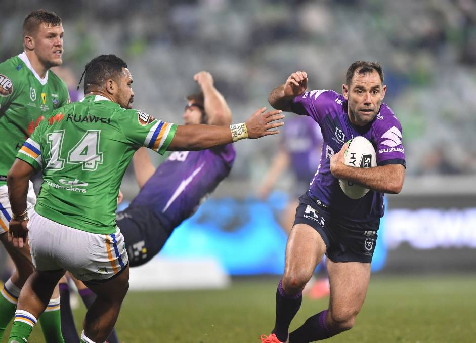 ON THE MOVE: Storm veteran Cameron Smith. Picture: Gregg Porteous/NRL Imagery