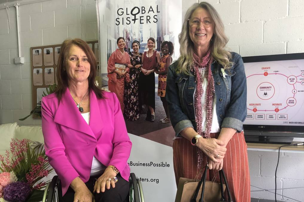 MISSING LINKS: Gosford MP Liesl Tesch (left) with Supporting Seriously Ill Kids (SSIK) founder Julieanne Bramman at the Central Coast launch of Global Sisters.
