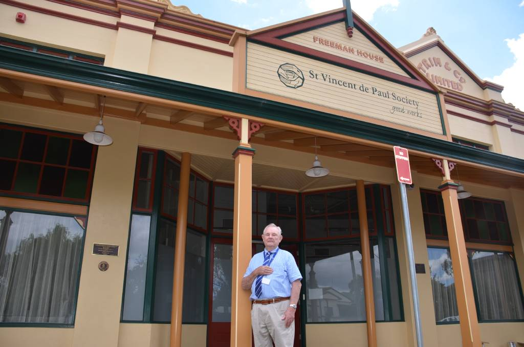 PRDIE AND JOY: Donald Hewitt stands in front of the heritage part of Freeman House - the refurbished Crescent Guest House building