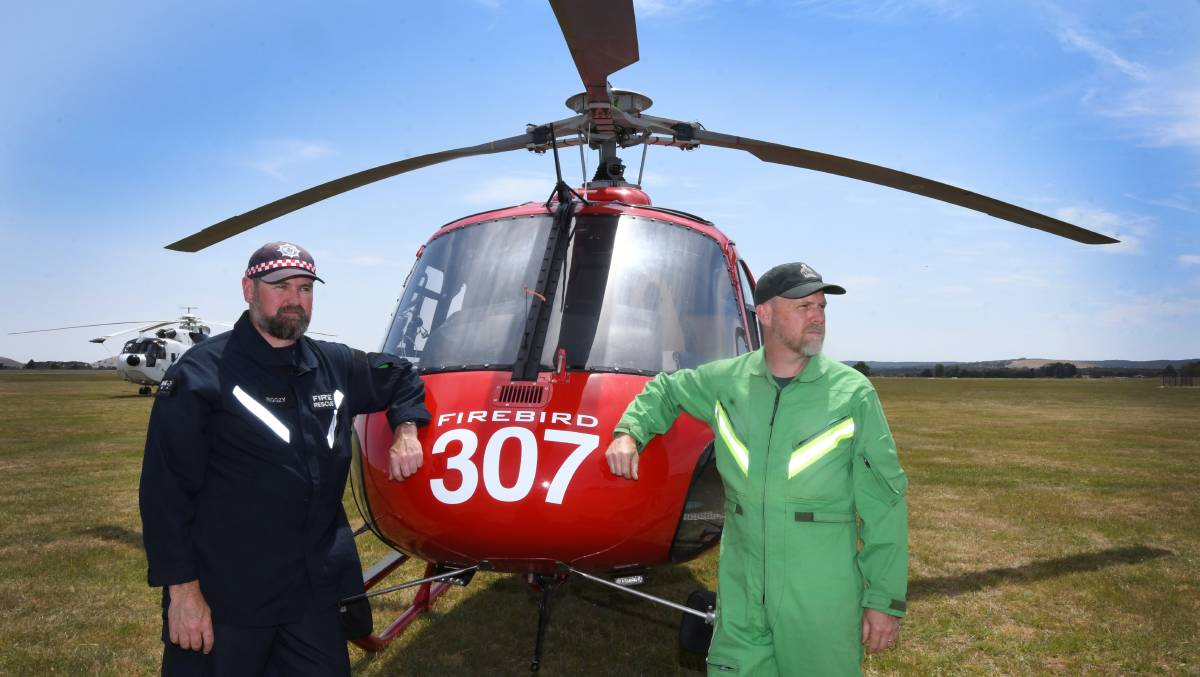 Crews from the 2019/20 aerial firefighting season in Ballarat.