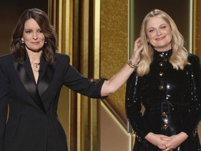 Tina Fey and Amy Poehler hosted the Golden Globes from the east and west coasts in the US.
