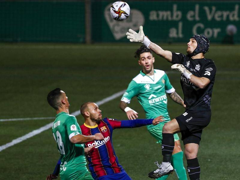 Ramon Juan Ramirez saved two penalties for Cornella who went down to Barcelona in extra time.
